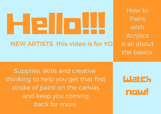 How to paint with acrylics new artists learn to paint for Learn to paint online