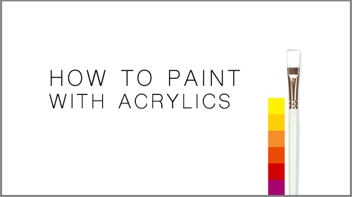 How to paint with acrylics learn to paint online learning for Learn to paint online